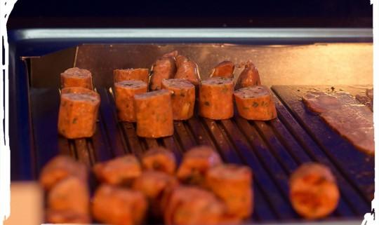 Sausage with orange
