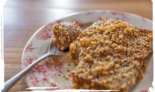 Moustalevria with walnuts and cinnamon